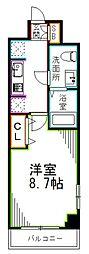 JR総武線 荻窪駅 徒歩14分の賃貸マンション 1階1Kの間取り