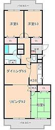 豊中桜塚ハウス[ 3号室]の間取り
