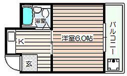 シャトー興栄[5階]の間取り