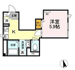 巣鴨5丁目新築[101号室]の間取り
