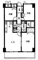 シャトー・ソレイユ[4階]の間取り