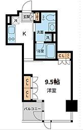 東京都港区白金1丁目の賃貸マンションの間取り