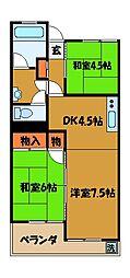 東京都国分寺市日吉町の賃貸マンションの間取り
