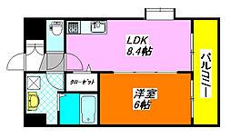 ディオーネ・ジエータ・長堂[3階]の間取り