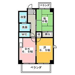 ドミール本笠寺[6階]の間取り