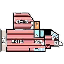 第6ベストビル[5階]の間取り