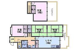 乾マンション[4階]の間取り