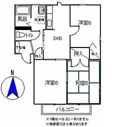 グリーンヒルA[2階]の間取り