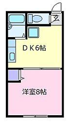 ハイツスタニ 1階1DKの間取り