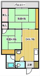 うららマンション[303号室]の間取り