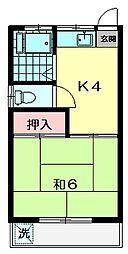 東京都杉並区清水2丁目の賃貸アパートの間取り