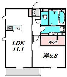 大阪府守口市高瀬町2丁目の賃貸アパートの間取り