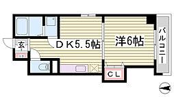 ル・ムーブル井村[9階]の間取り