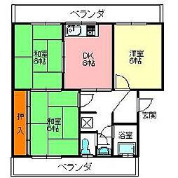 ホープハイツ[3階]の間取り