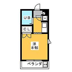 シャルム西畑[4階]の間取り