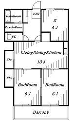 メゾンプラム1号館[1階]の間取り