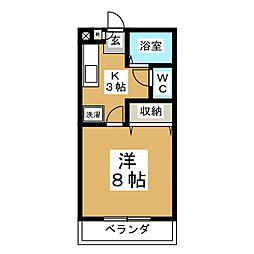 スパークル山崎[2階]の間取り