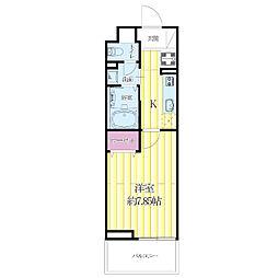 JR東海道・山陽本線 吹田駅 徒歩6分の賃貸マンション 3階1Kの間取り