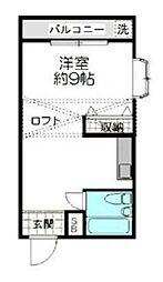 東京都渋谷区本町5丁目の賃貸アパートの間取り