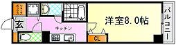 JR芸備線 矢賀駅 徒歩13分の賃貸マンション 4階1Kの間取り