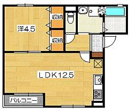 トラウトハイム[1階]の間取り
