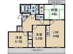 アンシャンテ[2階]の間取り