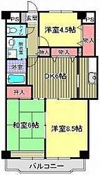 東京都練馬区平和台3丁目の賃貸マンションの間取り