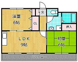 サンハイム渚[1階]の間取り