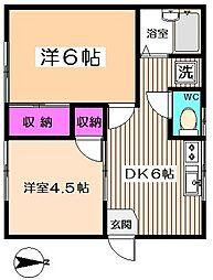 レピュート高円寺[1階]の間取り