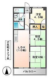 吉田マンション・城房[5階]の間取り