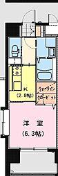 California APT ~カリフォルニア アパートメント~ 6階1Kの間取り