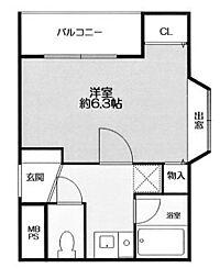 ドム北口[1階]の間取り