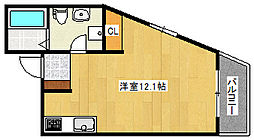JR東海道・山陽本線 六甲道駅 徒歩12分の賃貸マンション 7階ワンルームの間取り