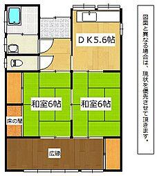 [一戸建] 福岡県中間市東中間3丁目 の賃貸【/】の間取り