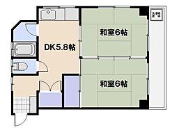 第二住田ビル[203号室]の間取り
