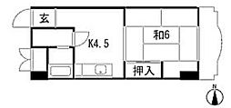 フローラ京橋[501号室]の間取り