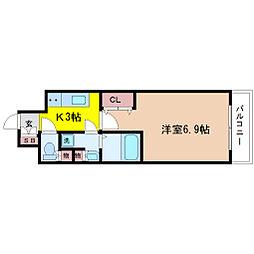 エグゼ北大阪[5階]の間取り