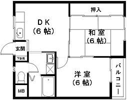 マンション万石No.8[2階]の間取り