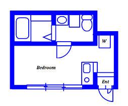 Avance 1階ワンルームの間取り