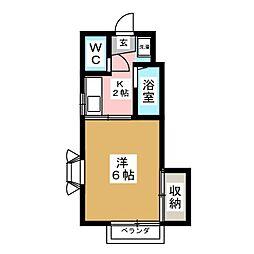 シャルム小野[1階]の間取り