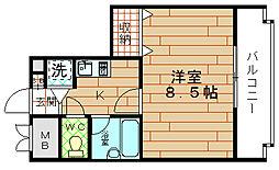 大阪府大阪市港区弁天5丁目の賃貸マンションの間取り