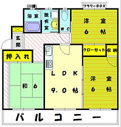 イーストガーデンII[3階]の間取り