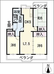 メゾン東栄 A棟[4階]の間取り