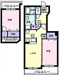 愛知県刈谷市重原本町5丁目の賃貸アパートの間取り