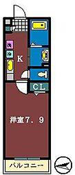 Kハイム[203号室]の間取り