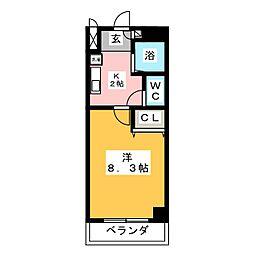 メゾン ド サフィ−ル[3階]の間取り