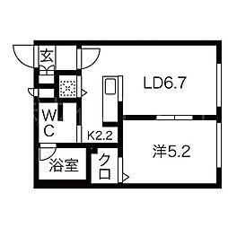 ブランノワールDECO[4階]の間取り