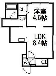 ブランノワール菊水・exe[305号室]の間取り