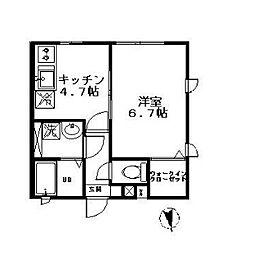 東京都杉並区西荻南1丁目の賃貸アパートの間取り