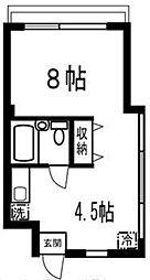 ウイングコート石川台 bt[306号室]の間取り